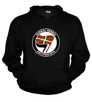 Sudadera Logo Sare Antifa, Ikurriña grande