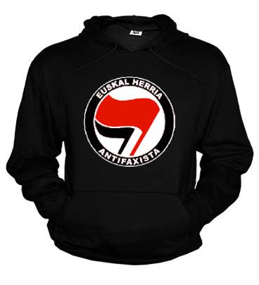 Sudadera Logo Sare Antifa, Bandera roja grande