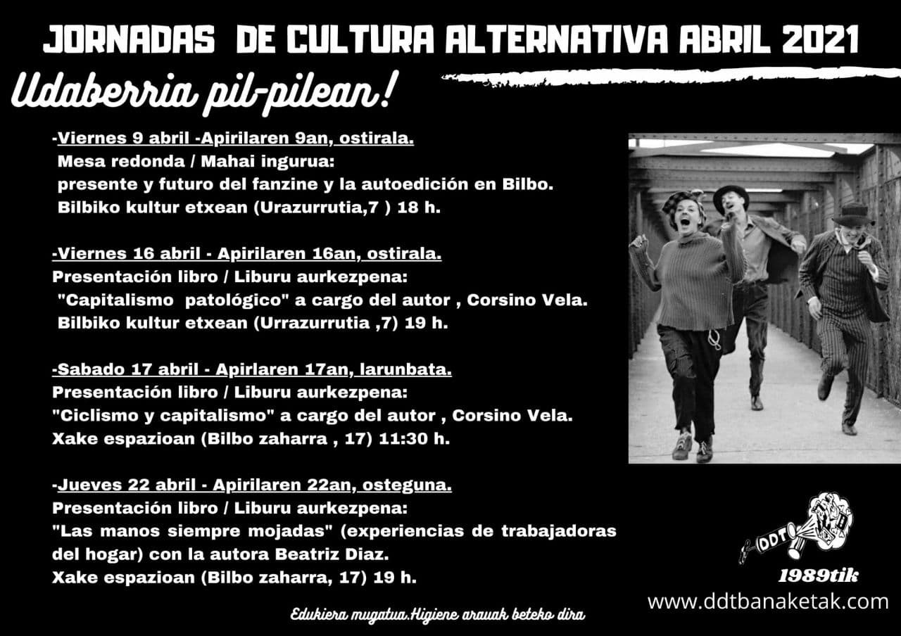 cartel jornadas cultura alternativa abril 20
